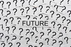 De toekomst is Onbekend stock fotografie