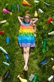 De toekomst is rooskleurig en kleurrijk royalty-vrije stock foto's