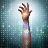 De toekomst van bionische betalingen stock foto's
