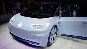 De toekomstige auto van VW in Parijs Stock Afbeelding