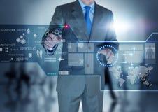 De toekomstige Vertoning van de Technologie stock afbeeldingen