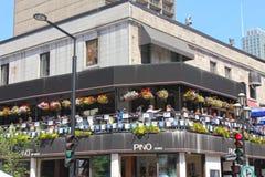 De toenemende straat van het restaurant. Royalty-vrije Stock Afbeelding