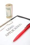 De toepassing van de lening Stock Afbeeldingen