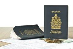 De toepassing van de vernieuwing voor paspoorten Stock Foto's