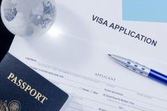 De Toepassing van het visum royalty-vrije stock afbeelding