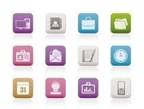 De Toepassingen van het Web, Bedrijfs en van het Bureau pictogrammen Stock Foto