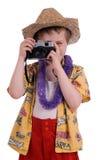 De toerist van de jongen royalty-vrije stock afbeeldingen