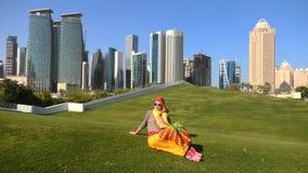 De toerist van Dohawolkenkrabbers