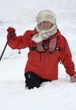 De Toerist van het avontuur in Groenland Stock Afbeeldingen