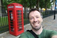 De toerist van Londen selfie stock afbeeldingen