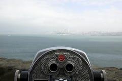 De toerist van San Francisco telescop royalty-vrije stock afbeeldingen