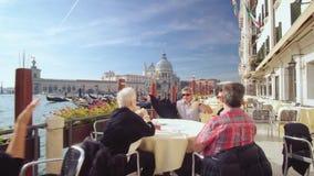 De toeristen van Venetië, Italië stock videobeelden