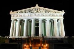 De toeristenaantrekkelijkheid Nashville van Parthenon nightscape Stock Fotografie