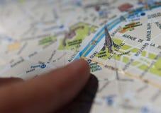 De toeristenkaart van Parijs Royalty-vrije Stock Afbeelding