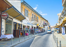 De toeristenstraat Stock Foto