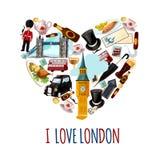 De Toeristische Affiche van Londen vector illustratie