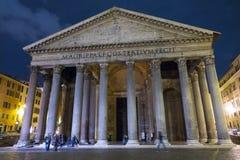 De toeristische attractie van Rome - het beroemde Pantheon royalty-vrije stock afbeelding