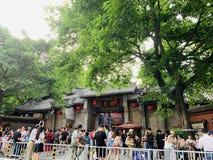 De toeristische attracties, Chengdu Jinli, heel wat toeristen komen hier te spelen stock afbeelding