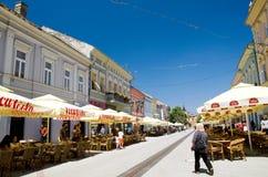 De toeristische straat van Novi Sad royalty-vrije stock afbeeldingen