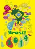 De Toernooien Brazilië 2014 van de voetbalvoetbal Stock Fotografie