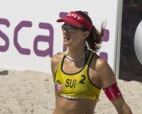 De toernooien van de vrouwen van het strandvolleyball Stock Afbeeldingen