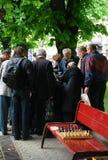 De toernooien van het straatschaak Royalty-vrije Stock Foto's