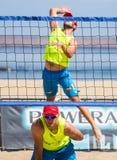 De toernooien van het strandvolleyball Stock Afbeelding