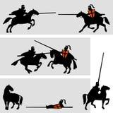 De toernooien van ridders stock illustratie