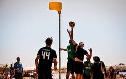 De Toernooien van strandkorfball Stock Fotografie