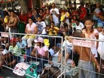 De Toeschouwers van Carnaval van de Minstreel van Kaapstad Royalty-vrije Stock Foto
