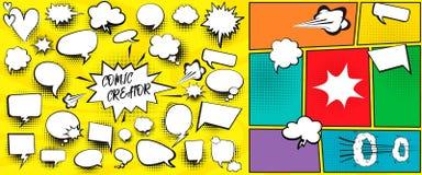 De toespraak borrelt grappige schepperreeks vector illustratie