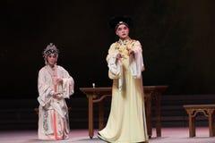 """De toespraak-derde handeling Mannelijke Gele wijn-Kunqu Opera""""Madame Witte Snake† Royalty-vrije Stock Afbeeldingen"""