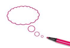 De toespraakballon van het idee Stock Foto's