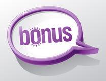 De toespraakbel van de bonus. royalty-vrije illustratie