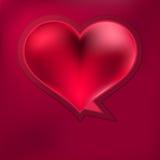 De toespraakbel van het hart. + EPS8 Royalty-vrije Stock Afbeeldingen