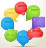 De toespraakwolken van de kleur Stock Foto's