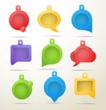 De inzameling van de toespraakwolken van de kleur Royalty-vrije Stock Foto's