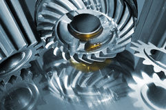 De toestellen van het staal in titanium worden weerspiegeld dat Royalty-vrije Stock Foto