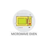 De Toestellenpictogram van microgolfoven cooking utensils kitchen equipment Stock Fotografie