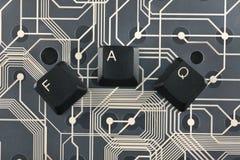 De toetsenbordsleutels maakten het woord op faq Stock Afbeelding