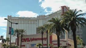 De Toevlucht en het Casino van Monte Carlo op CIRCA 2014 in Las Vegas stock video