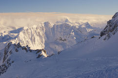 De toevlucht Frankrijk Espace Killy van de ski Stock Foto's