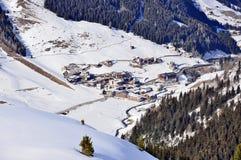 De Toevlucht Hintertux van de ski stock fotografie