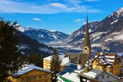 De toevlucht Slechte Gastein Oostenrijk van de bergenski royalty-vrije stock foto's