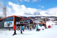 De toevlucht Tatranska Lomnica van de ski Stock Fotografie