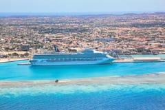 De toevlucht van Aruba op de Caraïbische Zee Stock Fotografie