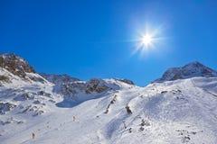 De toevlucht van de bergenski - Innsbruck Oostenrijk Stock Foto