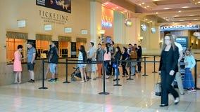 De toevlucht van de de Baailuxe van Mandalay en casino, de Strook van Las Vegas, Las Vegas, de V.S., stock footage