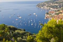 De toevlucht van de luxe en baai, Nice, Frankrijk Stock Foto's