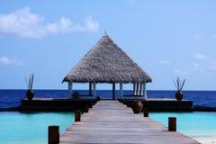 De toevlucht van de Maldiven Royalty-vrije Stock Afbeeldingen